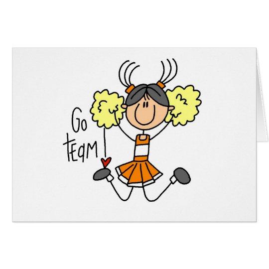 Orange Cheerleader Card