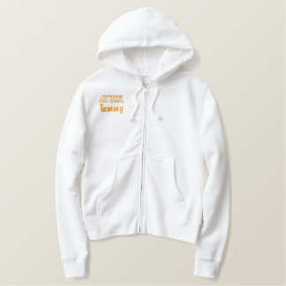 Orange Cheerleader Custom Embroidered Hoodie