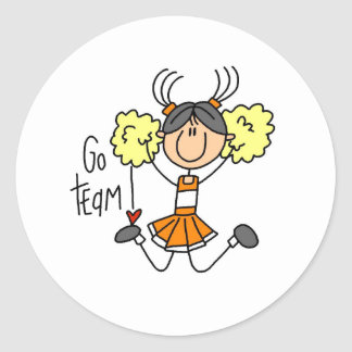 Orange Cheerleader Stickers