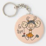 Orange Cheerleader Tshirts and Gifts Key Chain