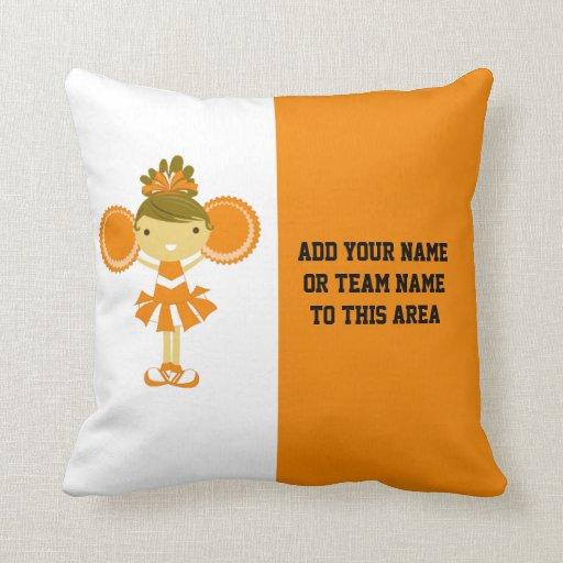 Orange Cheerleading American MOJO Pillow