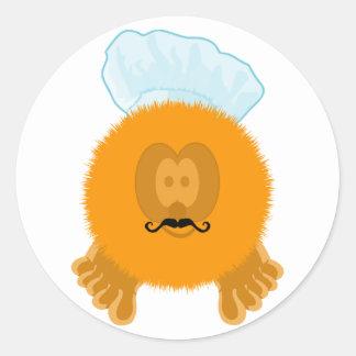 Orange Chef Pom Pom Pal Stickers