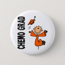 Orange CHEMO GRAD 1 (Kidney Cancer) Button