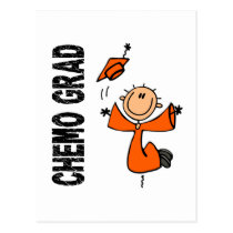 Orange CHEMO GRAD 1 (Kidney Cancer) Postcard