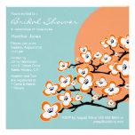 Orange Cherry Blossom Bridal Shower Invitation