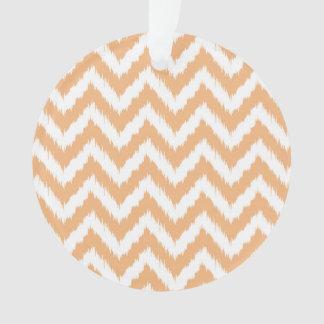 Orange Chevron Ikat Pattern
