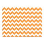 Orange Chevron Pattern Postcards