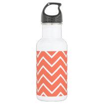 Orange Chevron Pattern Stainless Steel Water Bottle