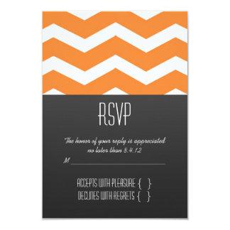 Orange Chevron RSVP Card