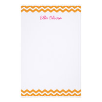 Orange Chevron Stationery