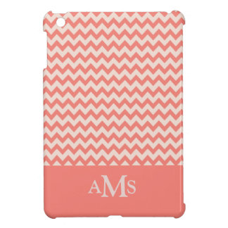 Orange Chevron Stripe 3  Monogram iPad Mini Covers