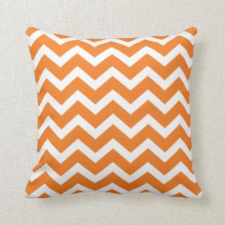 Orange Chevron Stripe Pillow