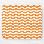 Orange Chevron Stripes Mousepad