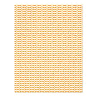 Orange Chevron/Zig Zag Scrapbook Paper Flyers