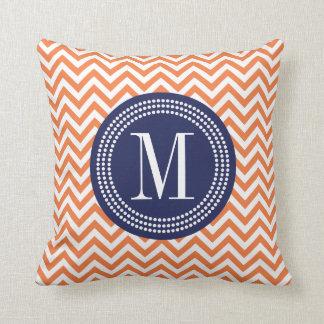 Navy Blue And Orange Throw Pillows : Navy Blue And Orange Pillows - Decorative & Throw Pillows Zazzle