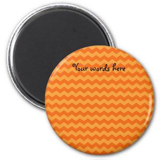 Orange chevrons magnet