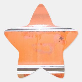 Orange Chevy Truck Door Star Sticker