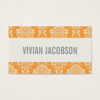 ORANGE CHIC DAMASK | BUSINESS CARDS