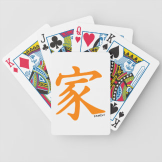 Orange Chinese character for Family Bicycle Playing Cards