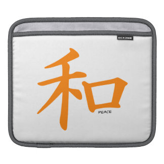 Orange Chinese Peace Sign Sleeves For iPads