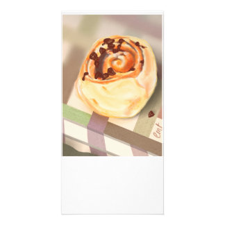 Orange & Choc-chip crescent rolls Personalized Photo Card