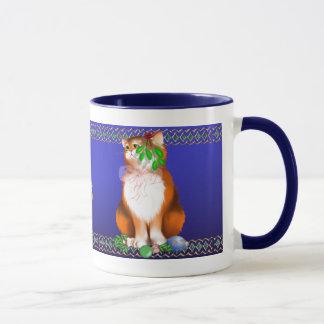 Orange Christmas Kitty  Mug