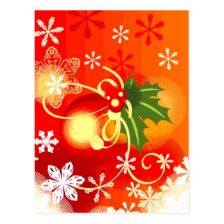 Orange Christmas Postcard