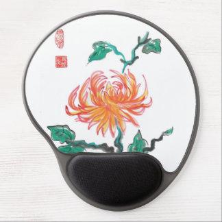 Orange Chrysanthemum Flower Mousepad Gel Mouse Pad