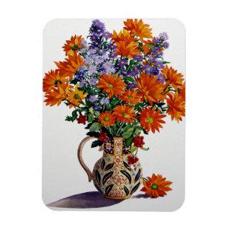 Orange Chrysanthemums Rectangular Photo Magnet