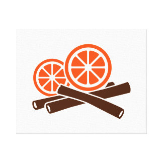 Orange Cinnamon Gallery Wrap Canvas