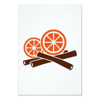 Orange Cinnamon 3.5x5 Paper Invitation Card