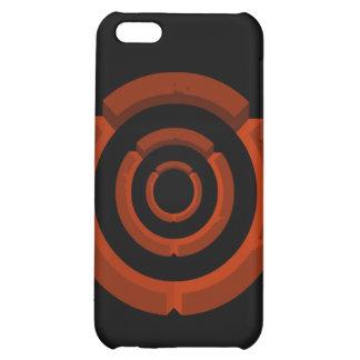 orange circle iPhone 5C cases