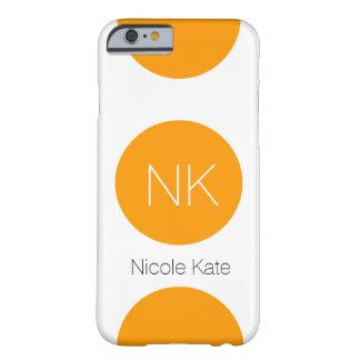 orange circle monogram barely there iPhone 6 case