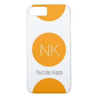 orange circle monogram iPhone 7 case