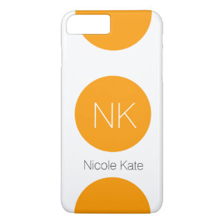 orange circle monogram iPhone 7 plus case