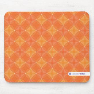 Orange circle mousepad
