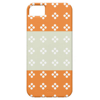 Orange circle pattern 3 tripes Iphone 5s cases