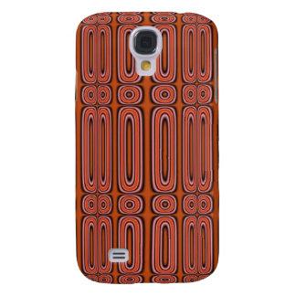 Orange Circle pattern Galaxy S4 Case