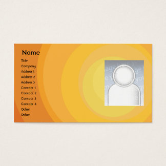Orange Circle Shades - Business Business Card
