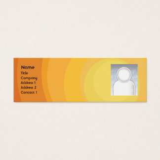 Orange Circle Shades - Skinny Mini Business Card