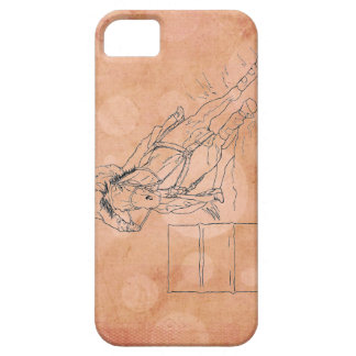 Orange Circles Barrel Racer ~ iPhone 5/5S Case
