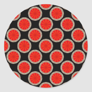 orange circles classic round sticker