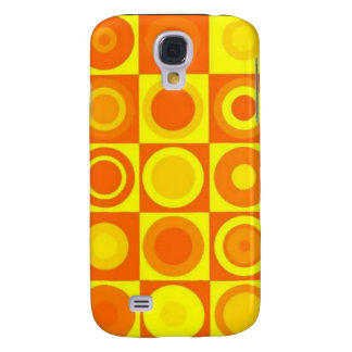 Orange circles galaxy s4 cover