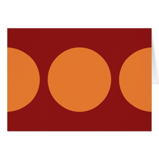 Orange Circles on Red Card