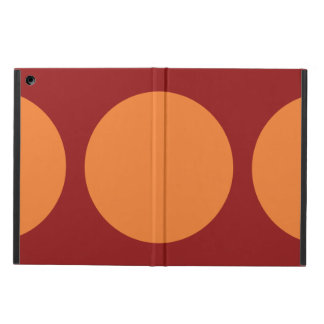 Orange Circles on Red Cover For iPad Air