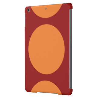 Orange Circles on Red iPad Air Covers