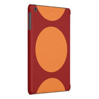 Orange Circles on Red iPad Mini Cases