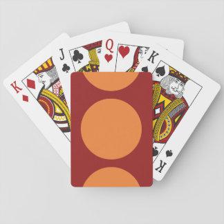 Orange Circles on Red Poker Deck