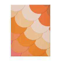 Orange Circles Pattern Canvas Print