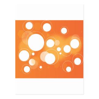 Orange Circles Postcard